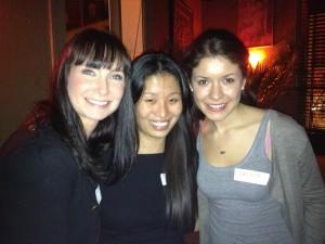 (l-r) Lindsey Kent of Pictours Paris, Edna Zhou of Expat Edna, and Danielle Alvarez of Danielle Abroad Photo courtesy of Edna Zhou