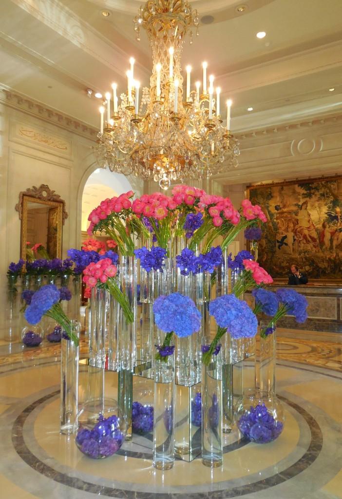 Lobby flowers at the FS Paris, George V