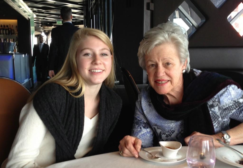Caroline and her grandmother at Jules Verne