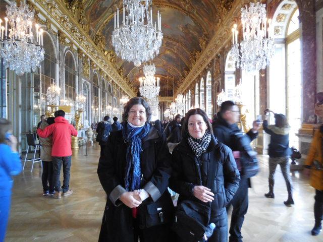 Susan and Patty in Versailles