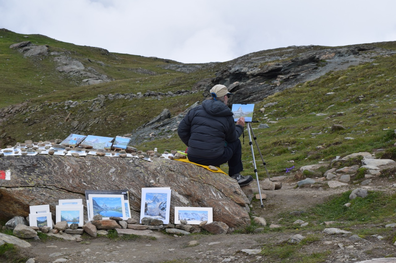 Artist captures the Matterhorn from her perch below in the foothills