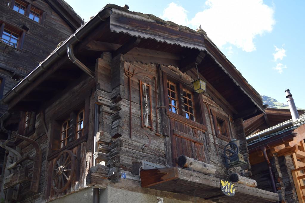 One of the original buildings in the city of Zermatt