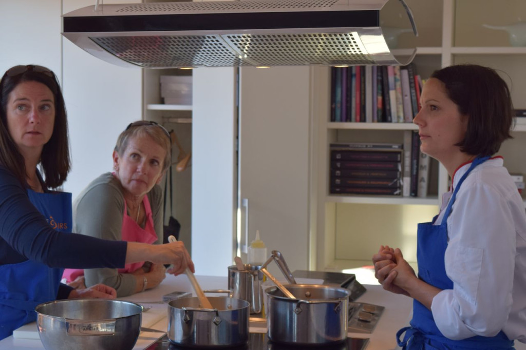 Cooking class in the state of the art kitchen on the property of the hotel