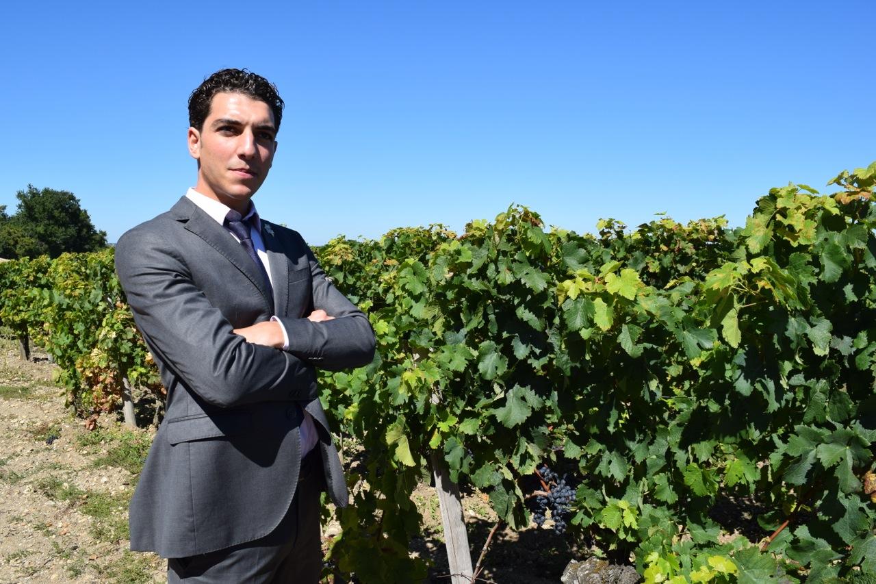 Alex in the vineyard of Château Figeac