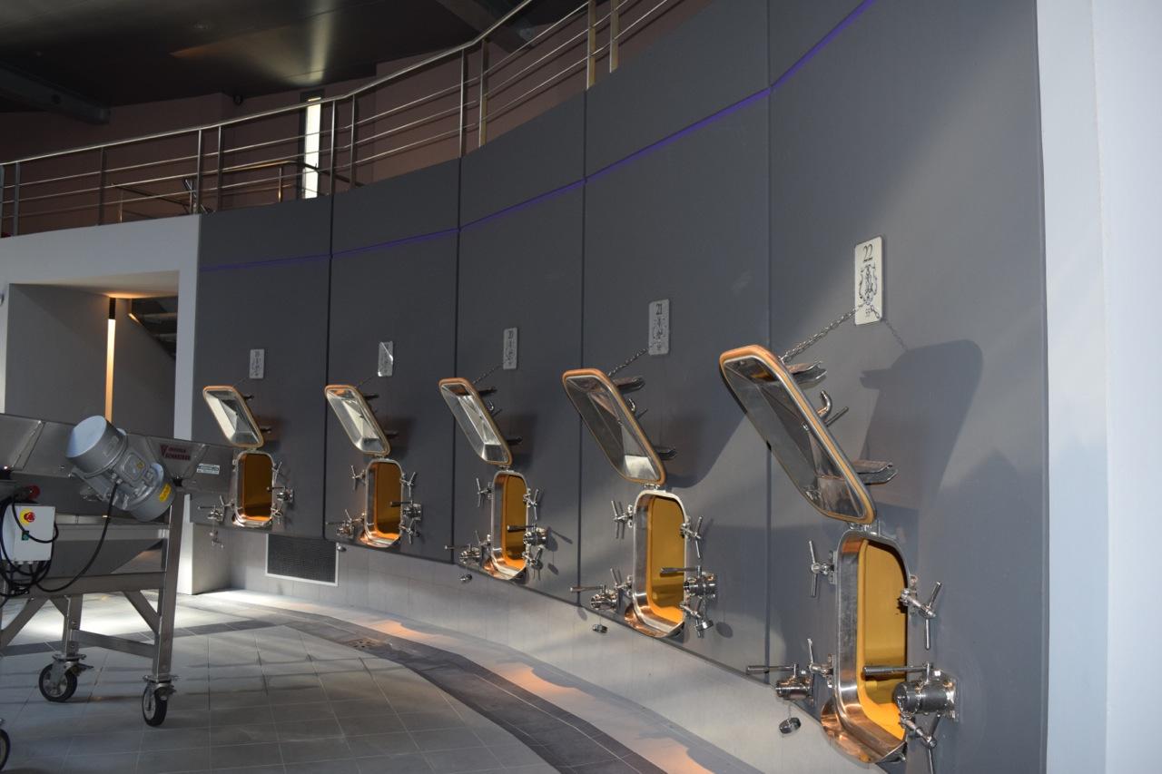 Chateau La Conseillante state-of-the-art wine vats