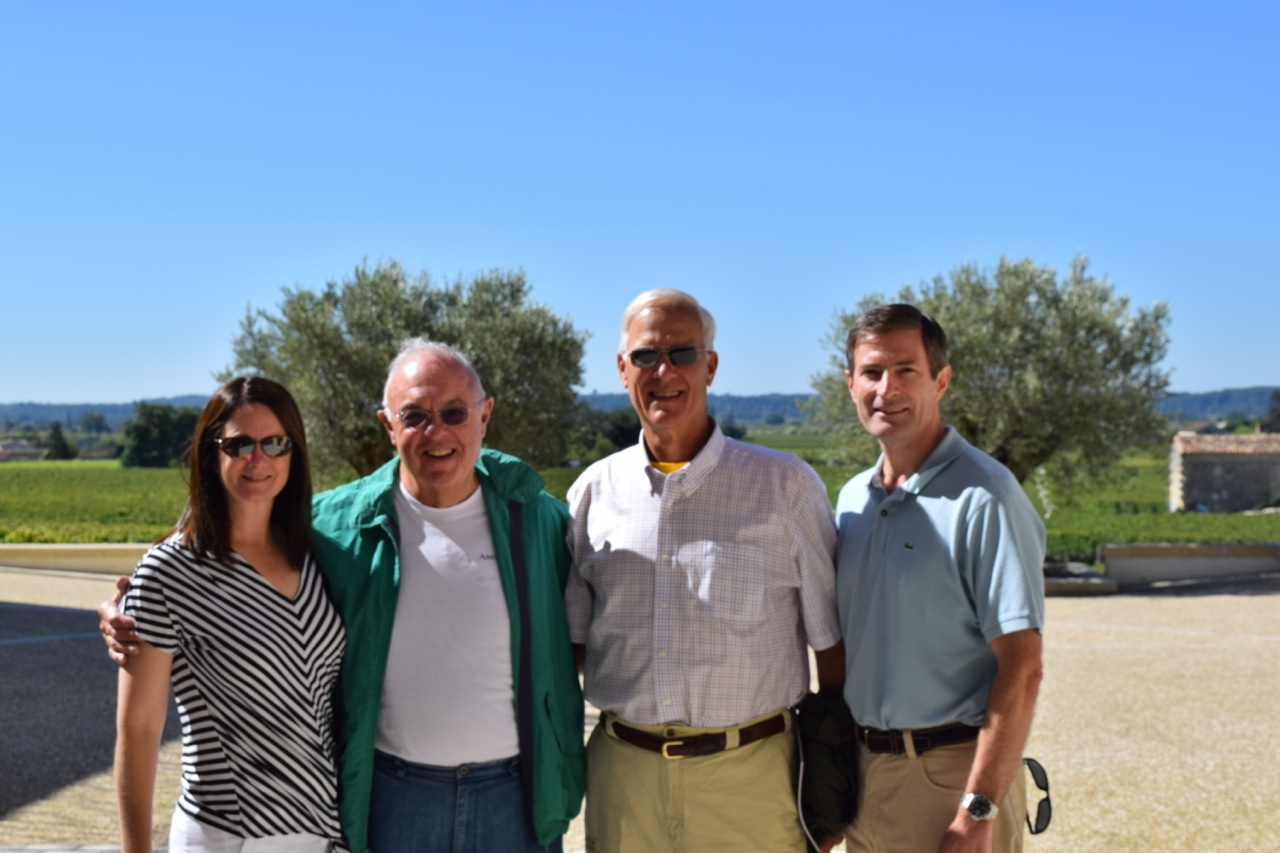 Priscilla, Father Tucker, Terry Sheffield and Mr. Weekend In Paris at Château Pavie