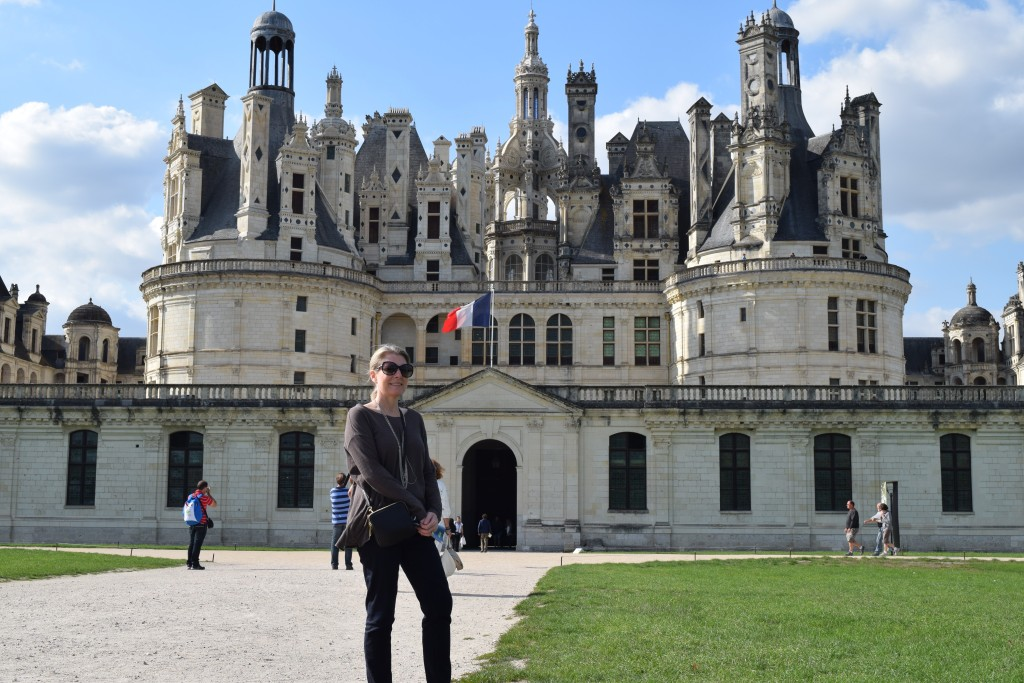 Gail in front of Chambord Castle