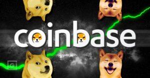 Coinbase showing preference to high volume meme tokens like Doge and Shib