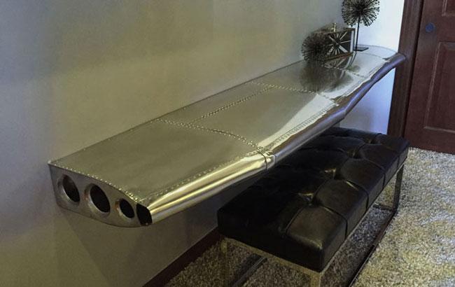 airplane wing desk custom made