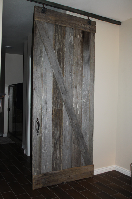 old barn wood barn door