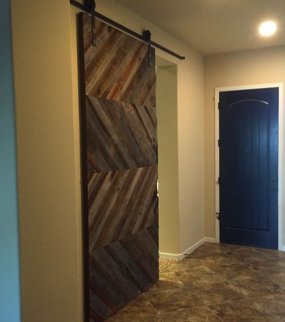 chevron pattern barn wood barn door