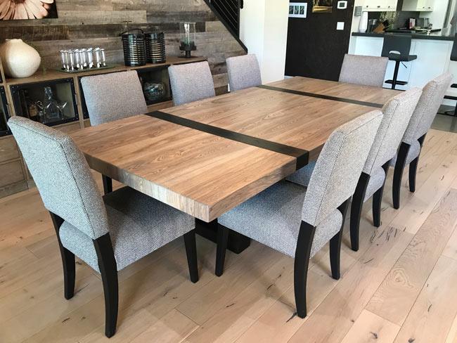 contemporary modern custom wood dining table