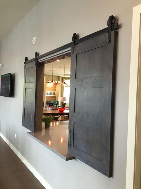double small barn door shaker style