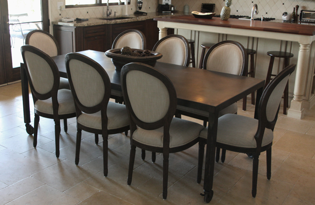 hot rolled steel dining room table