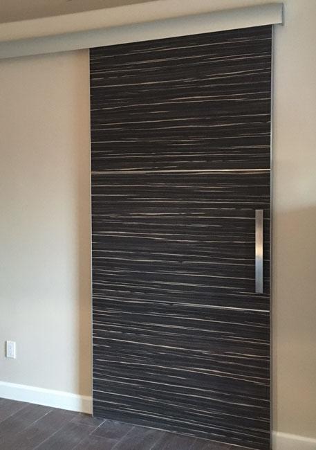 hidden track modern barn door laminate 3 panels