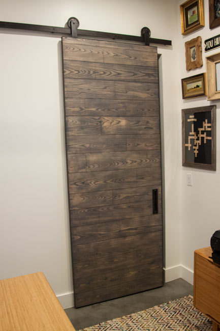 contemporary ash wood barn door