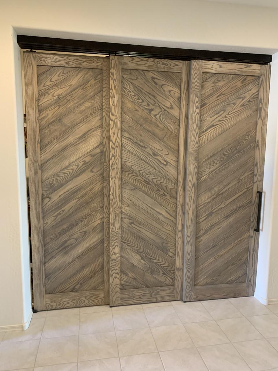 3 solid ash wood bi pass doors