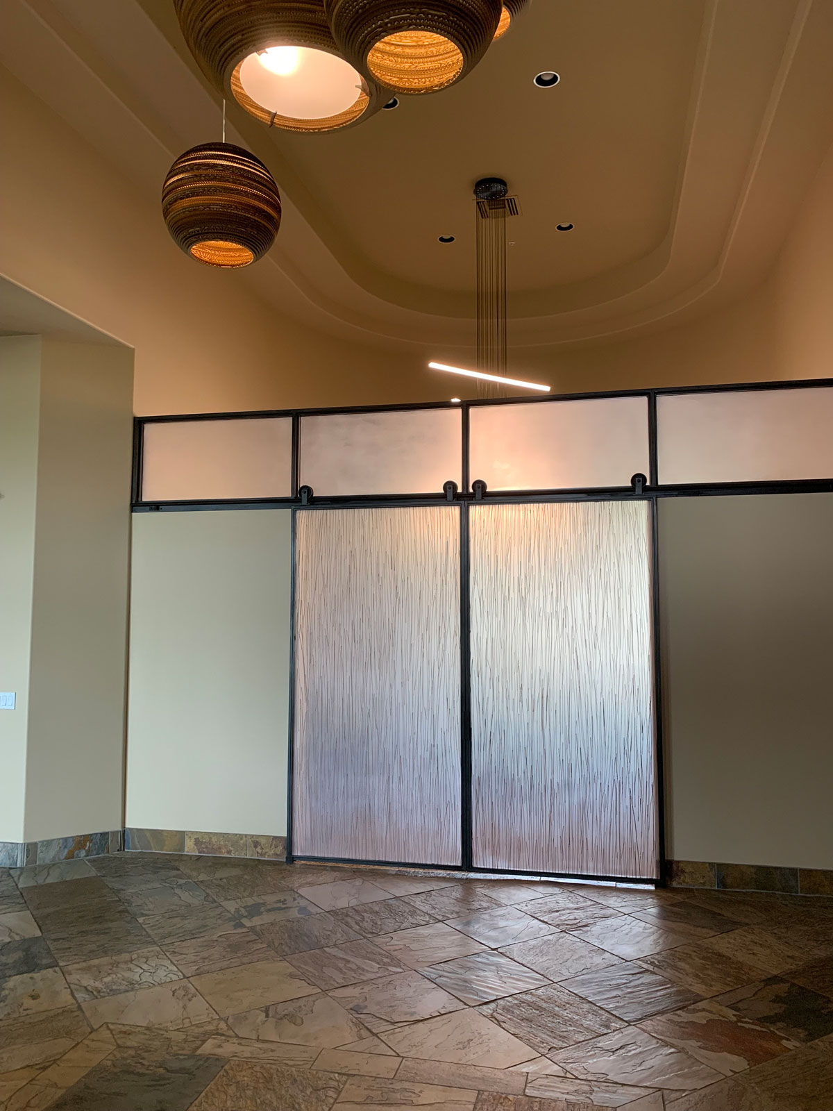 3Form and metal barn doors