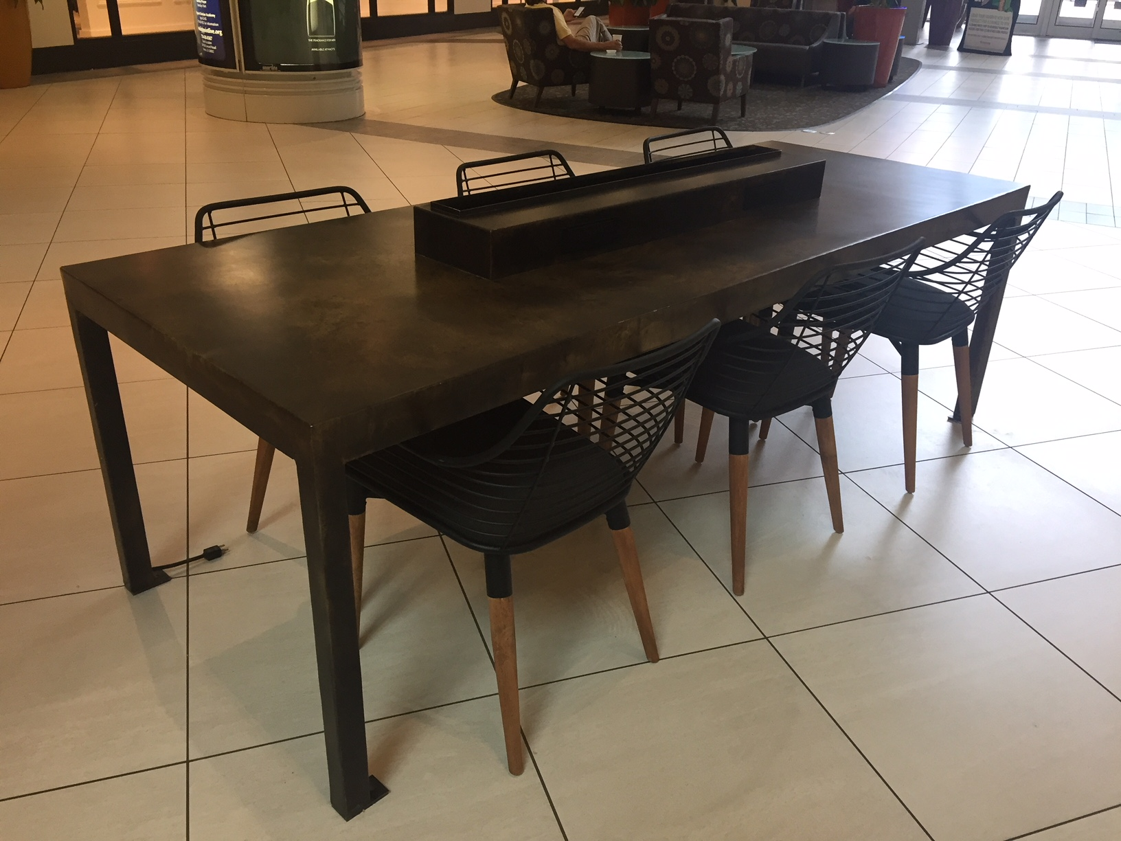 brass meeting table