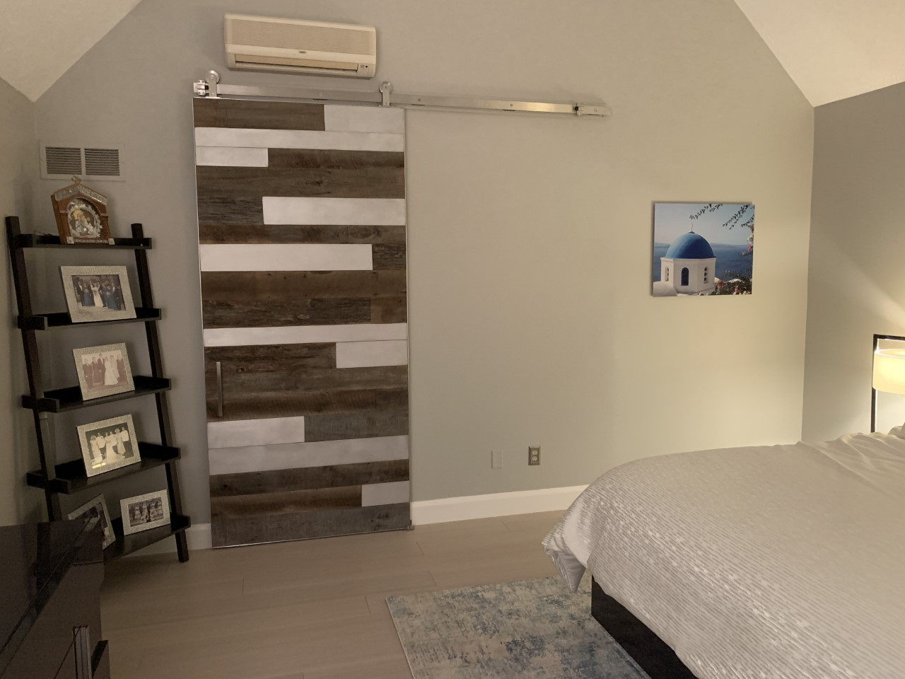 barn wood and metal barn door