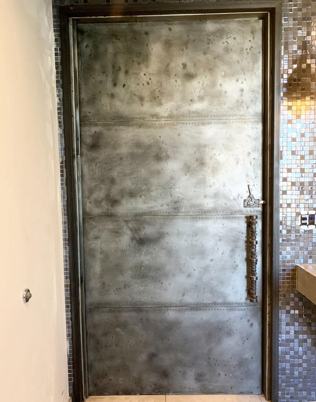 industrial zinc door