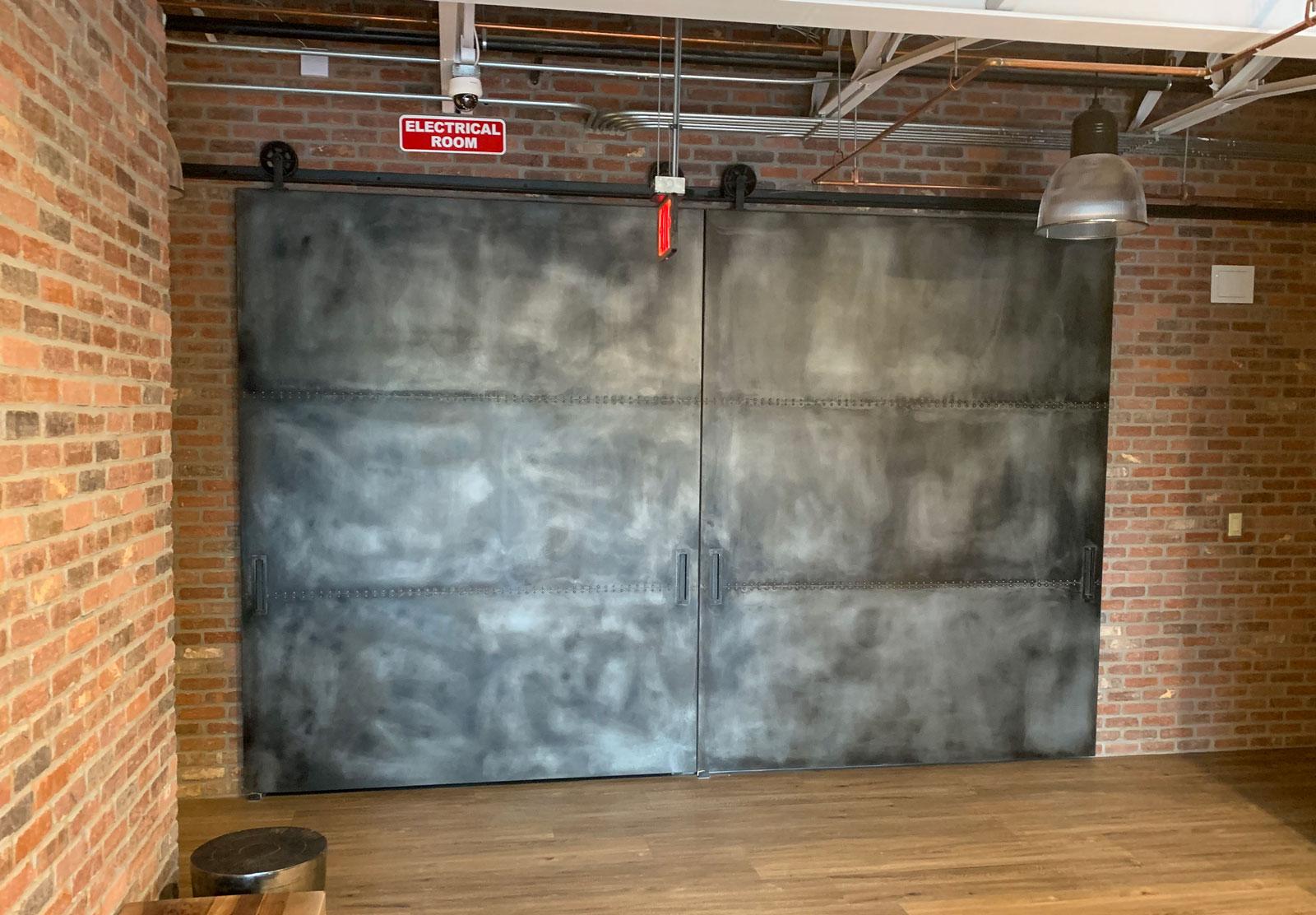 Large industrial warehouse style barn doors