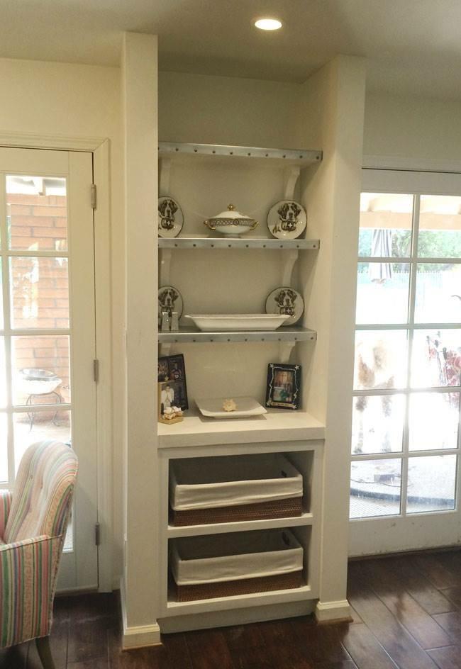 zinc shelves