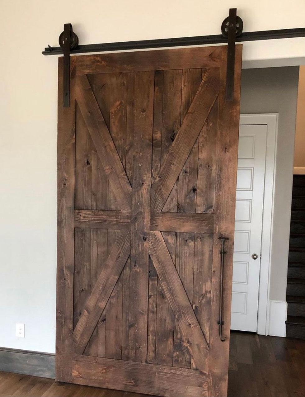 ranch style wood barn door