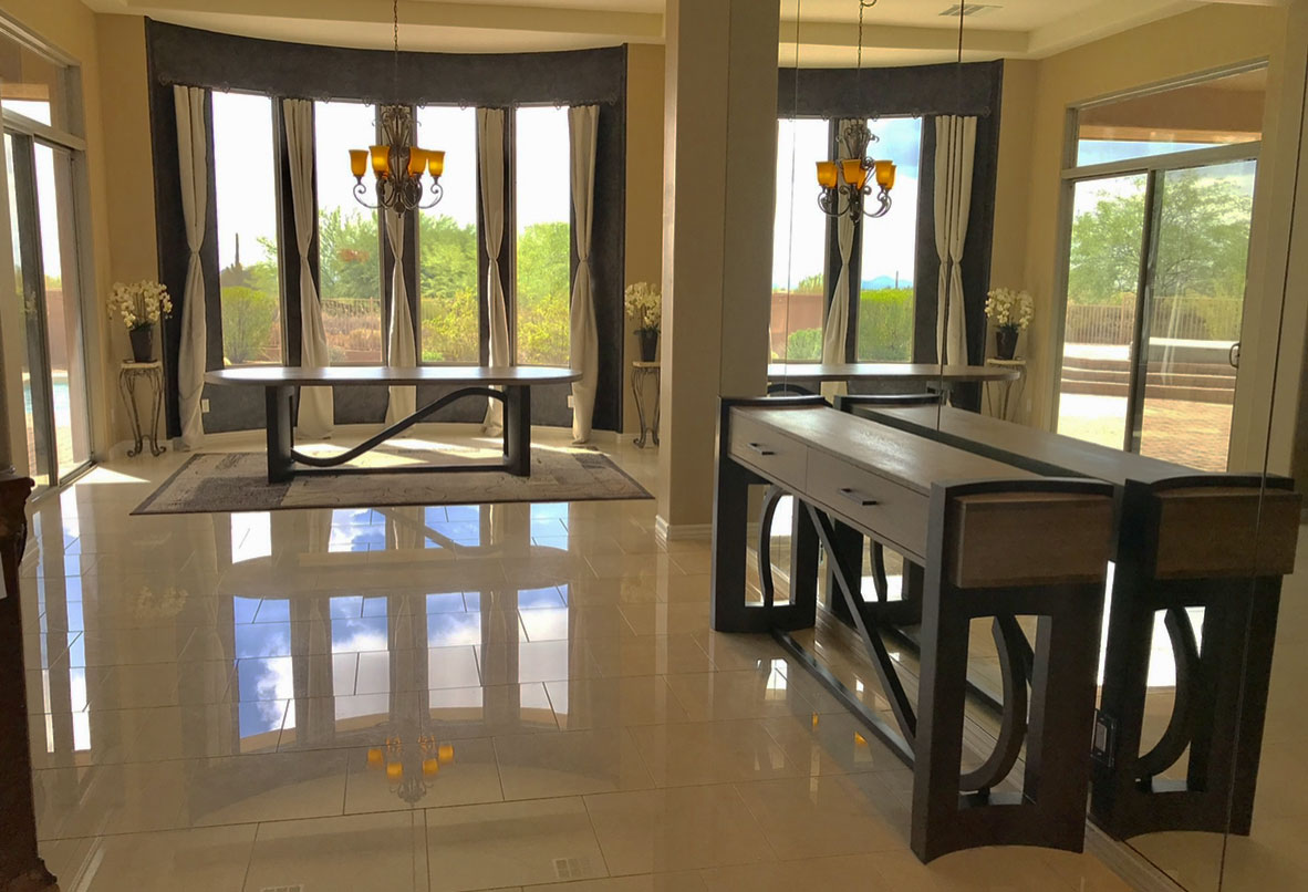 artistic luxury credenza and dining table