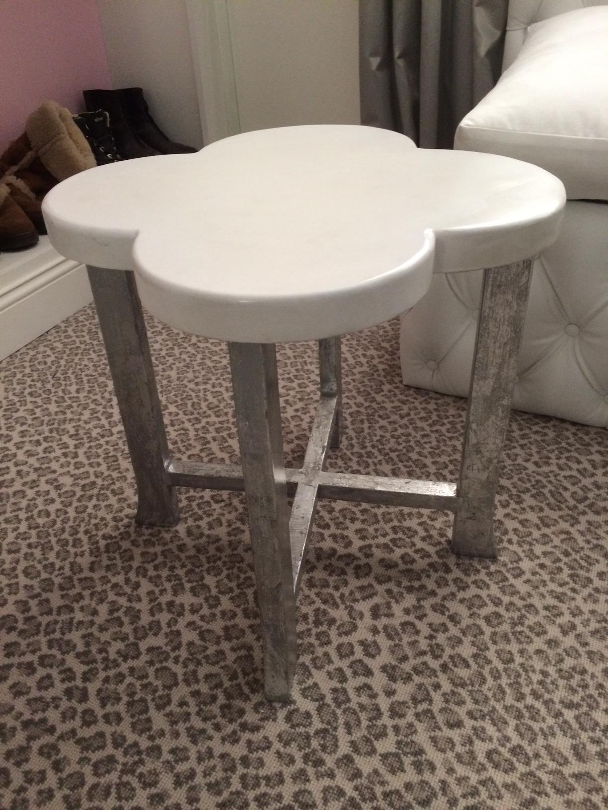 clover concrete and metal side table
