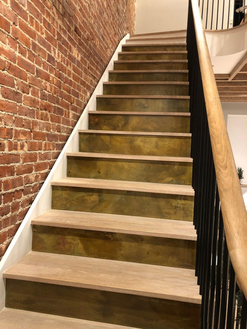 brass stair risers