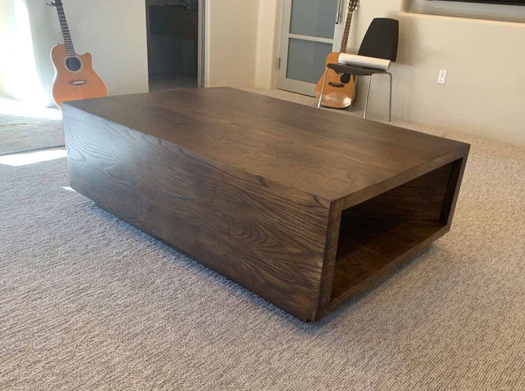 ash wood coffee table
