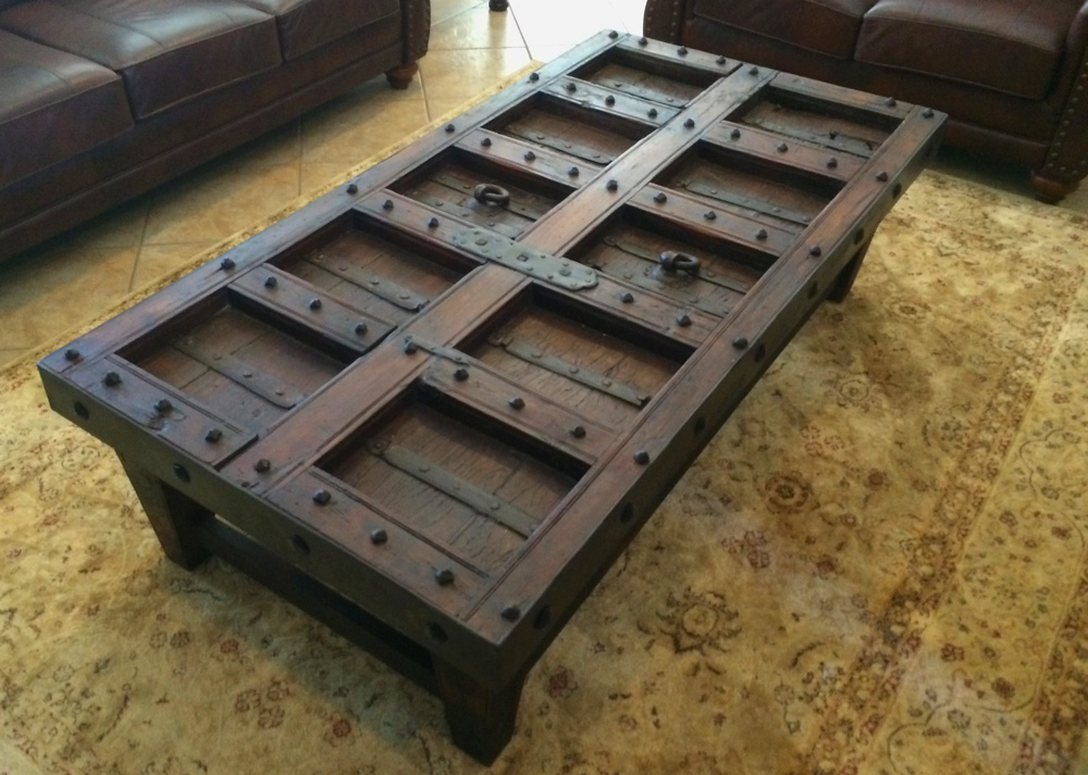 old world door coffee table