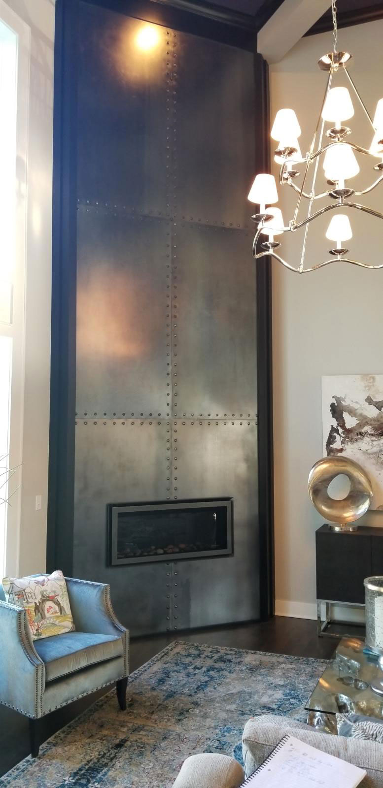 hot rolled steel fireplace round rivets
