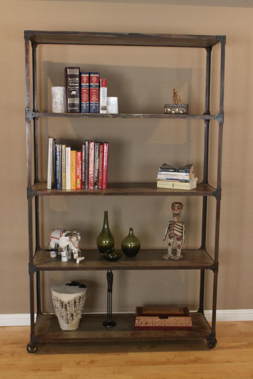 industrial book shelf