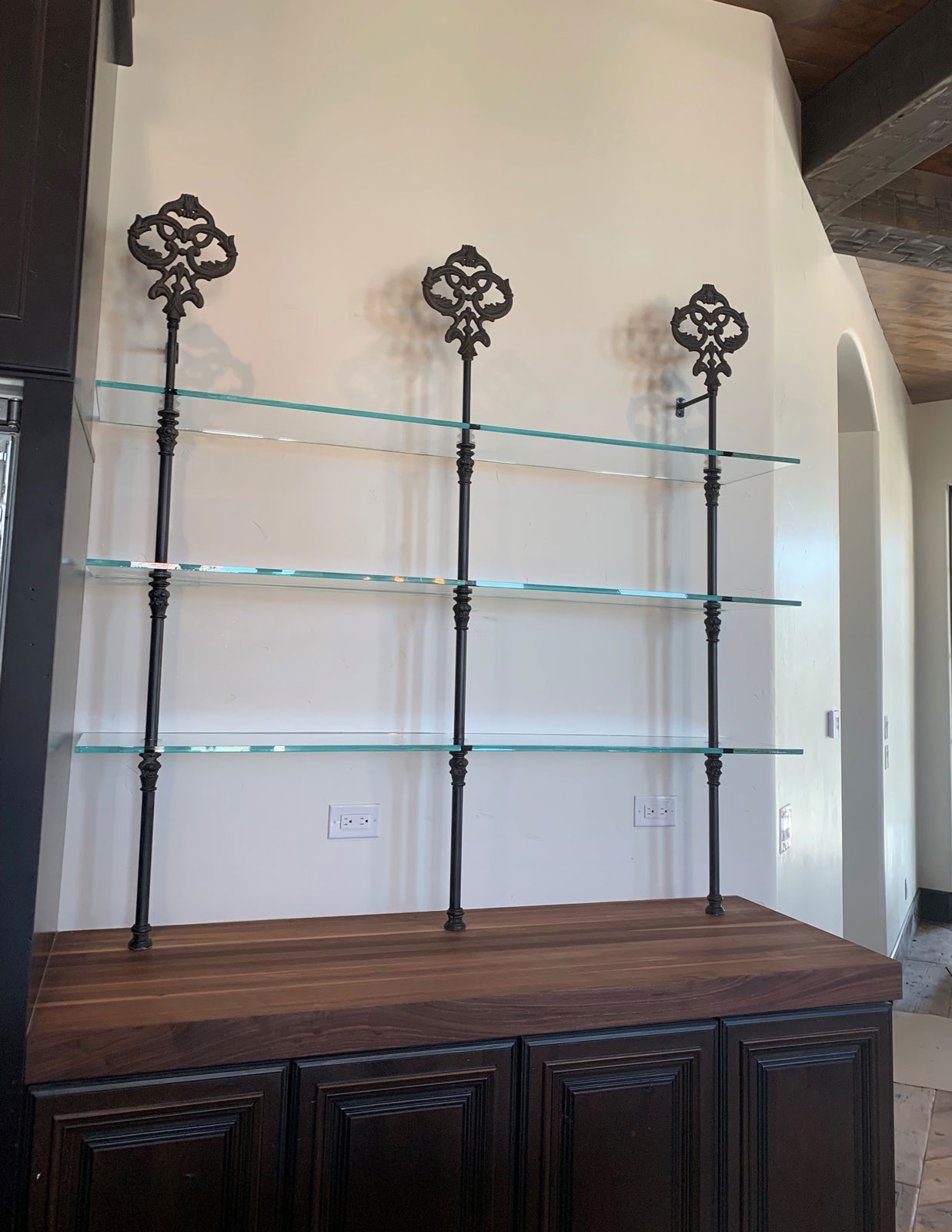 Custom Metal Bristo Shelves