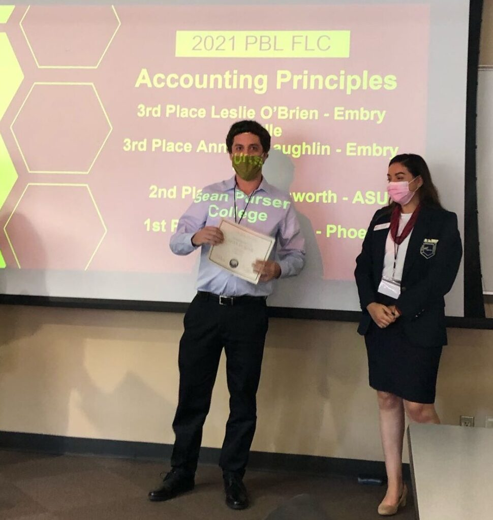 1st Place Accounting Principles Sean Purser - Phoenix College