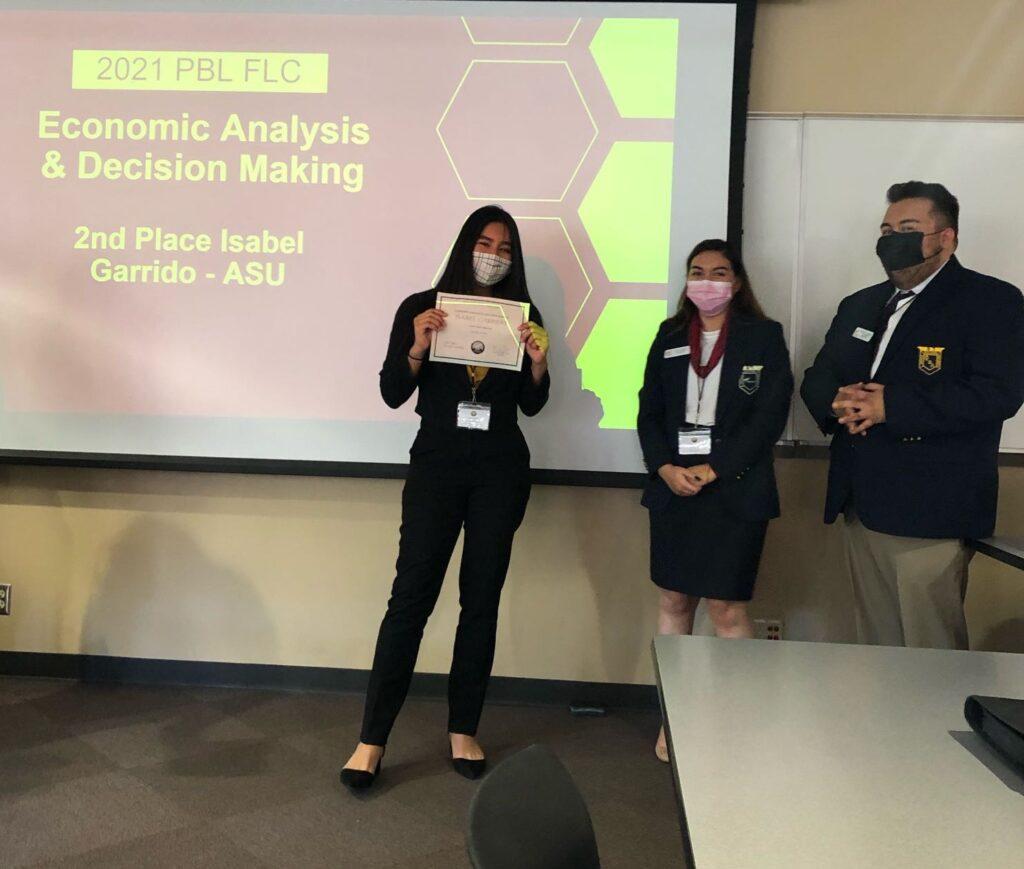2nd Place Economic Analysis  & Decision Making Isabel Garrido - ASU