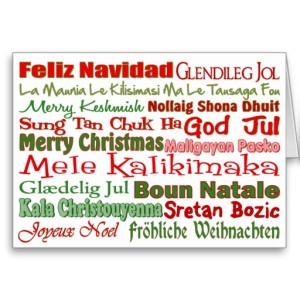 Christmas Greetings in Many Languages