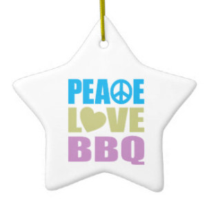 peace love bbq