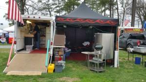 Cajun Jax Campsite setup