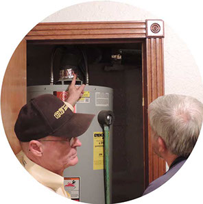 learning how to inspect from student learning at computer for Home Inspection Online School