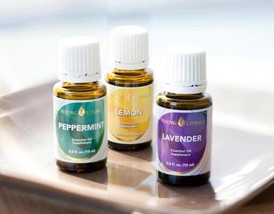 Young Living Peppermint, Lavender, Lemon