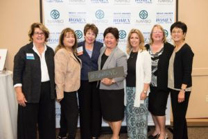 The NAWBO Ventura County Chapter Board of Directors 2015-2016 Diane de Mailly, Elain Hollifieild, Maura Ratffensperger, Dr. Janis Shinkawa, Coleen King, Brenda Terzian and Joy Sakata were there to celebrate the awards. Board Members not pictured are Pamela Smith and Linda Drevenstedt.