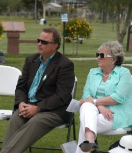 Brian Brennan and Maire O'Connell commemorate the centenary at Ivy Lawn.Photo by Ryan Schultz Ventura High School