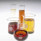 Beakers of Lube Oil