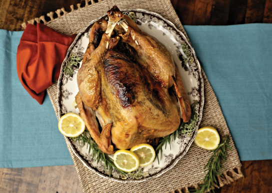 Rosted Turkey with rosemary and lemon