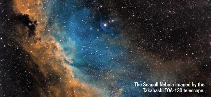The Seagull Nebula imaged by the Takahashi TOA-130 telescope.