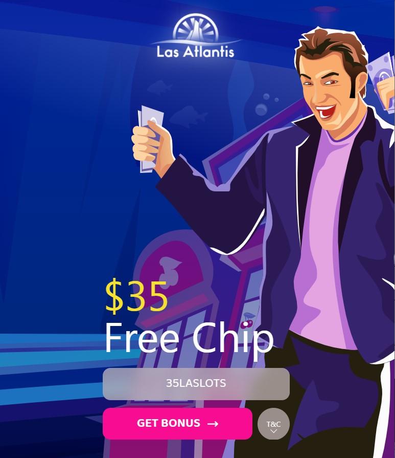 Las Atlantis $35 Free No Deposit Bonus