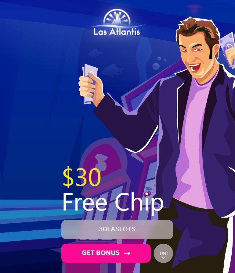 Las Atlantis Casino $30 Free No Deposit Bonus Codes